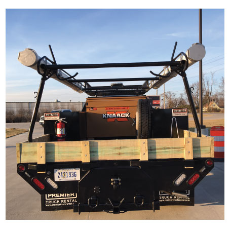 Flatbed Rental with Knaack Toolbox